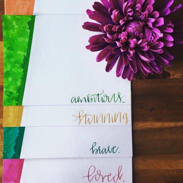 PTF encouragement notecards