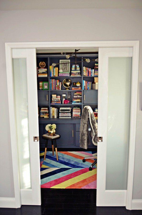 pocket-doors-595x898 Florida Coastal Home with Modern Style