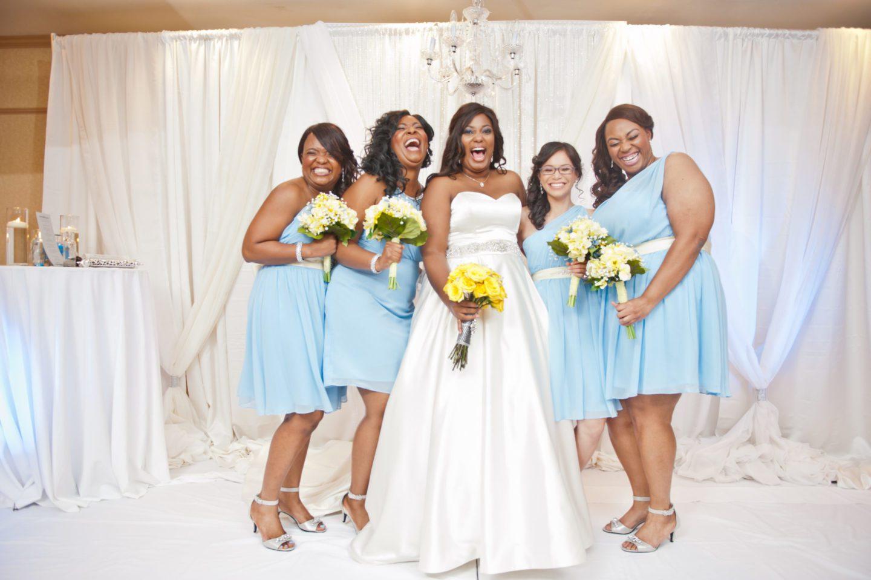 Dark Blue And Yellow Wedding: FAMU Love Blossoms In Blue And Yellow Georgia Wedding