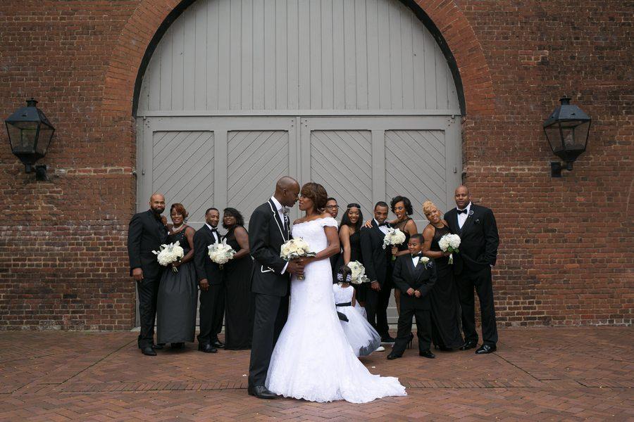 Bold Black and White Richmond, Virginia Wedding 9