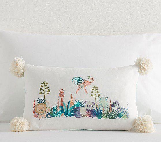 justina-blakeney-geo-animal-embroidered-lumbar-pillow-c Nursery Decor We Love from Justina Blakeney - African American Nursery