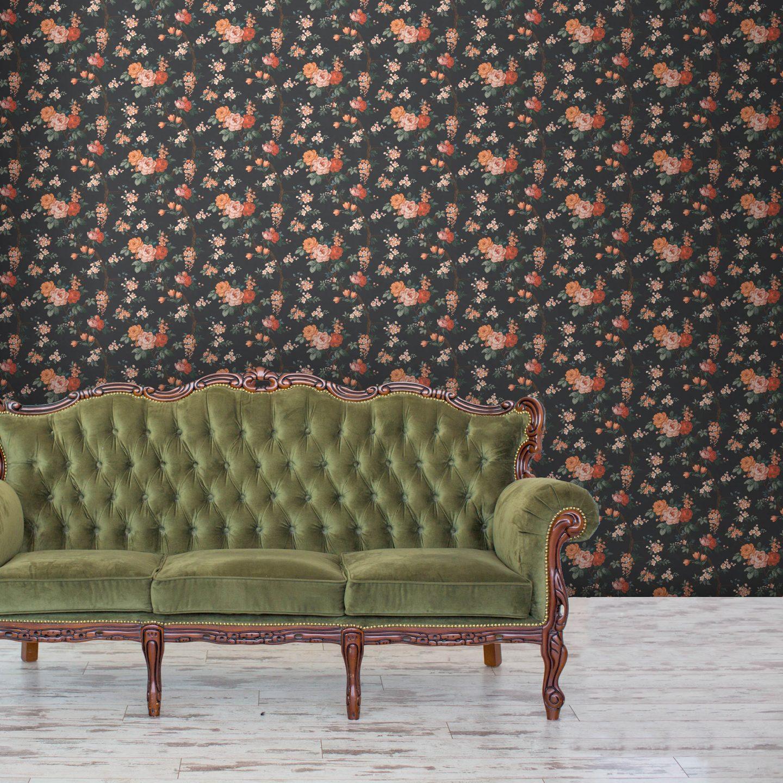 WoodchipandMagnolia_2855957_DitsyFloralinNoirBlack.jpg-1440x1440 Pink and Green Rooms We Adore - Alpha Kappa Alpha Decor