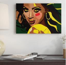'Beyonce' Graphic Art Print on Wrapped Canvas Size: 18″ H x 26″ W x 1.5″ D