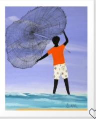 MY KIND OF NET ART PRINT BY GULLAH LIVING SERIES BY SAMANTHA CLAAR – X-LARGE